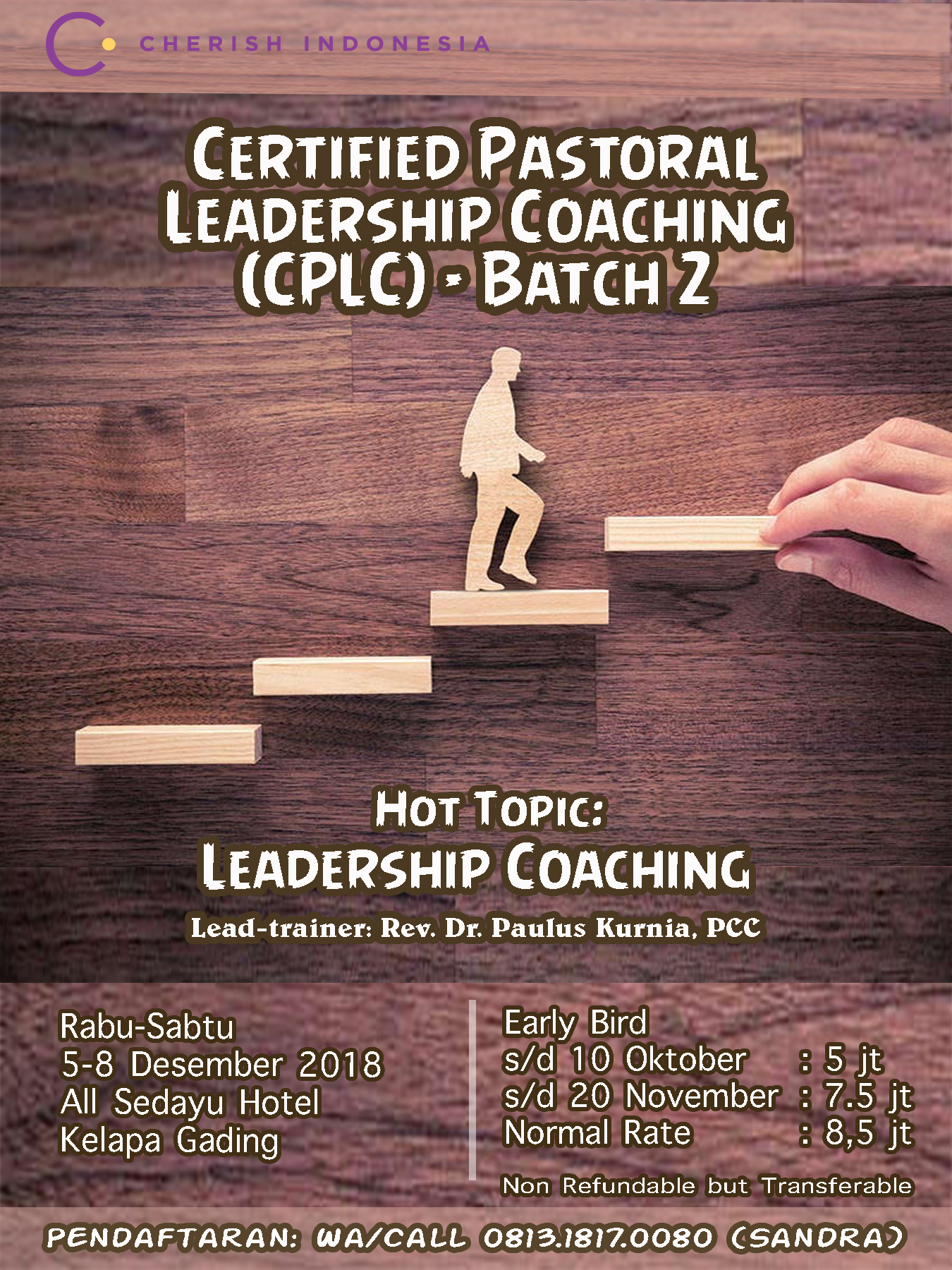 Certified Pastoral Leadership Coaching Batch 2