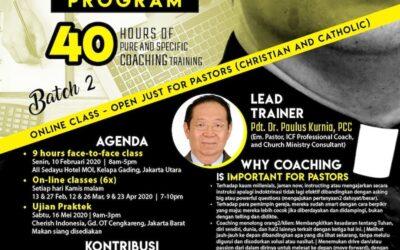 Certified Pastoral Leadership Coaching Batch 3