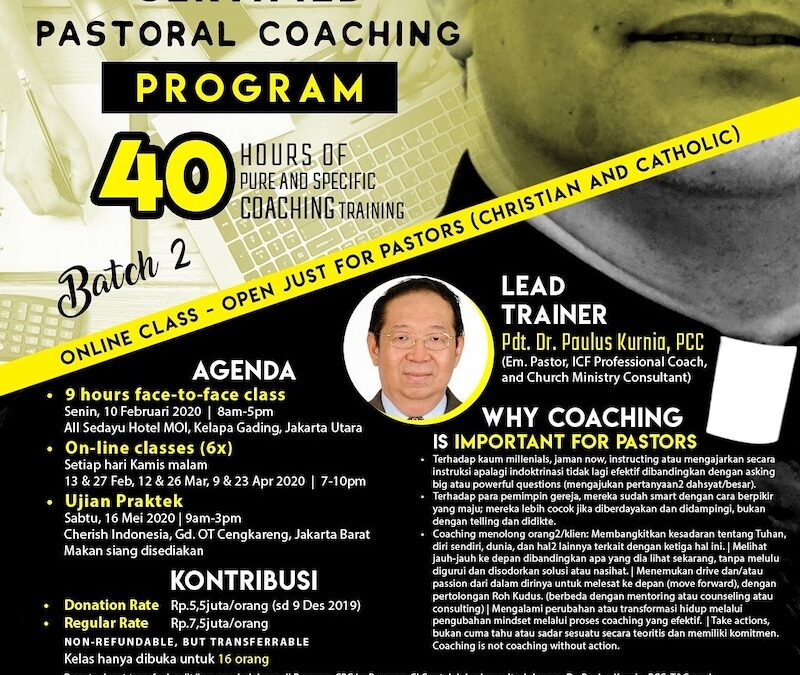 Certified Pastoral Leadership Coaching Batch 3