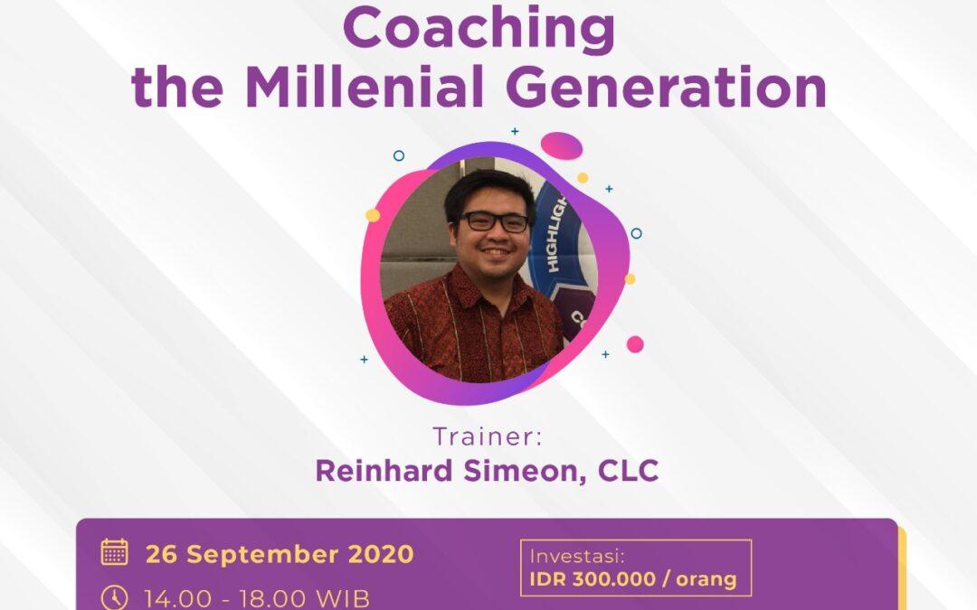 Coaching the Millennial Generation
