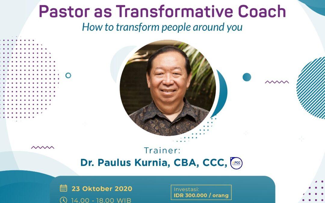 Pastor as Transformative Coach