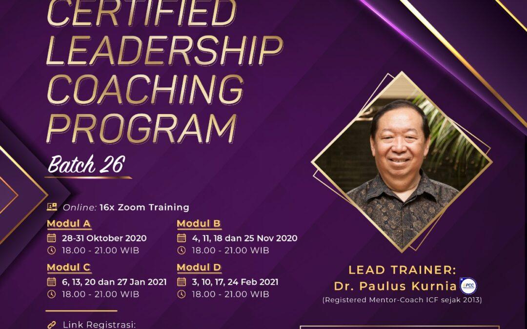 Certified Leadership Coaching (CLC) Batch 26