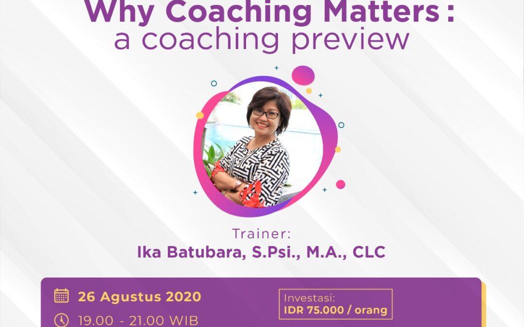 Why Coaching Matters